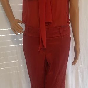 Rust colored gently worn pant set.